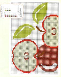 Ponto Cruz maçã