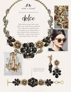 Discover the inspiration behind our Dolce mini-collection! Freshen up with the florals of Spring! Statement necklaces just in time for Valentines day from Chloe and Isabel.