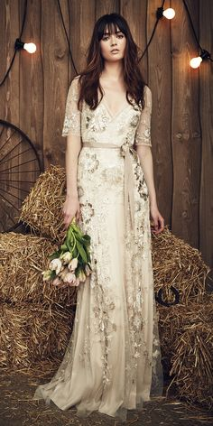 The Prettiest Spring 2017 Wedding Dresses from Bridal Fashion Week - Jenny Packham - from InStyle.com