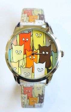 CATS Watch Wristwatch by ZIZWatches on Etsy, €46.70