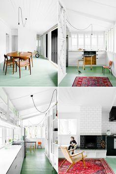 Painted floors-mint green