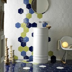 Bring a splash of colour into your life with our Hex range. Available in 12 different matt and gloss shades, colours can be combined randomly for a playful and fun effect.   www.piazzatiles.com