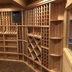 CellarPro cooling units are recommended by the leading custom wine cellar manufacturers nationwide. For example, a customer recently installed a CellarPro split cooling system in the custom wine cellar. Caves, Cooling Unit, Cooling System, Wine Cellar Basement, Home Wine Cellars, Wine Cellar Design, Low Humidity, Energy Saver, Cubic Foot