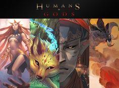"""C'est la dernière ligne droite. La campagne prendra fin lundi prochain (17/10) à 23h59 ! Couverture non définitive - photo non contractuelle Le projet """"Humans & Gods"""" est un artbook collaboratif rassemblant 16 talentueux artistes francophones. Ce livre résulte de ..."""