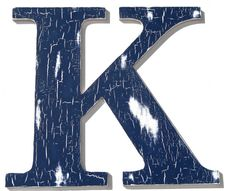 WOODEN LETTER K, Eco Safe, Environmentally Safe, Chic Decor, Navy Blue, Vintage Inspired, Shabby Chic, Wall Decor Initials.  #munire #pinparty #MadeintheUSA
