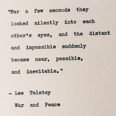 Leo Tolstoy/ War and Peace Typewriter Quote/ by BookishGifts