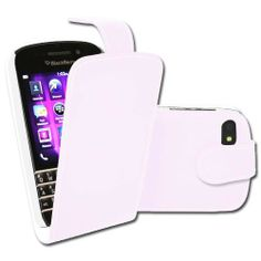BlackBerry Q10 Leather Style Flip Case – White