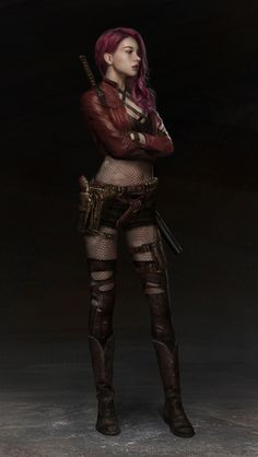 New Concept Art Girl Shadowrun Ideas Fantasy Girl, Fantasy Warrior, Fantasy Women, Woman Warrior, Female Character Design, Character Concept, Character Art, Ningbo, Fantasy Characters