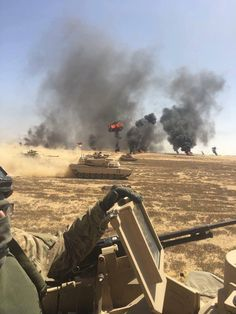 US Army tanks during Exercise Bright Star 17 with the Egyptian Army at Mohamed Nagieb military base.