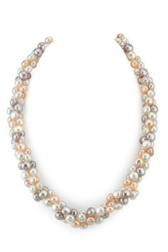 Designer Multicolored Freshwater Pearl Braided Necklace   --- If only it was a bracelet.