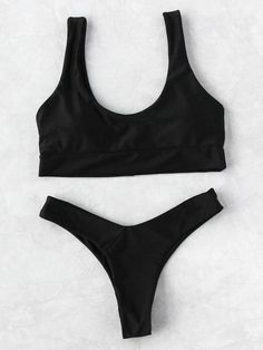 Shop Scoop Neck Beach Bikini Set online. SheIn offers Scoop Neck Beach Bikini Set & more to fit your fashionable needs.