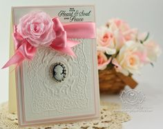 Card Making Ideas by Becca Feeken using Spellbinder Mediteranean Medallion and Spellbinders Create a Rose - www.amazingpapergrace.com