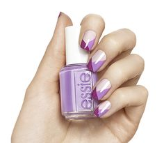 Pretty in Pinks - Pink Colorblock Nail Art Design - Essie Nail Polish Looks