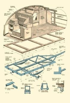 Trailer for Two. - Bauplan teardroptrailer -You can find Airstream and more on our website.Trailer for Two. - Bauplan t. Teardrop Trailer Plans, Building A Teardrop Trailer, Camping Trailer Diy, Teardrop Camper Trailer, Camper Trailers, Camping Hacks, Rv Campers, Travel Trailers, Camping Gear