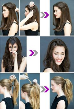 Casual Hairstyles For Long Hair, Haircuts For Long Hair With Layers, High Ponytail Hairstyles, Clip Hairstyles, Office Hairstyles, Short Hair, East Hair Styles, Front Hair Styles, Medium Hair Styles