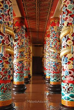 Inside a common Chinese Temple. Taken in Sandakan, Sabah Borneo, Malaysia.