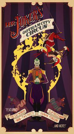The Joker | Batman, Circus poster, DC comics, superhero villain