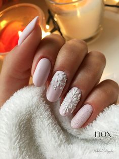 Pyłki do Efektu Syrenki - NOX Nails - Chistmas nails - Chistmas Nails, Xmas Nails, Holiday Nails, Winter Nail Designs, Winter Nail Art, Nail Art Designs, Fancy Nails, Cute Nails, Pretty Nails