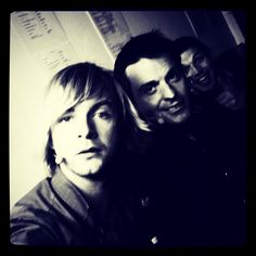 Keith Harkin, Ryan Kelly and Colm Keegan of Celtic Thunder back stage at show in Canada
