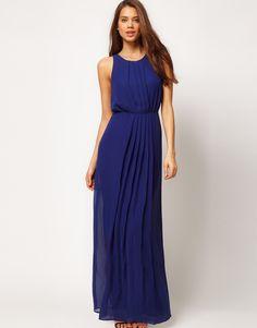 Fall ball - chiffon maxi dress ASOS.... I'd choose a light blue or periwinkle color