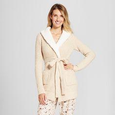 Gilligan & O Women's Sweater Wrap with Sherpa Collar - Gilligan & O'Malley