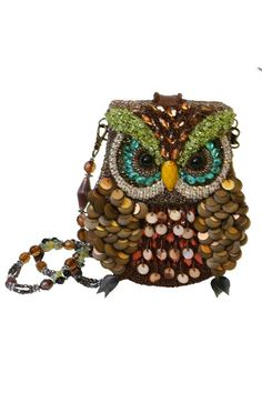 Mary Frances Bronze Brown Night Owl Green Eyes Beaded Framed Handbag New Mary Frances Purses, Mary Frances Handbags, Owl Purse, Pin Up Dresses, Formal Dresses, Beaded Bags, Beaded Purses, Vintage Purses, Floral Style