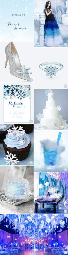 10 ideias para uma festa de15 anos inspirada em flocos de neve
