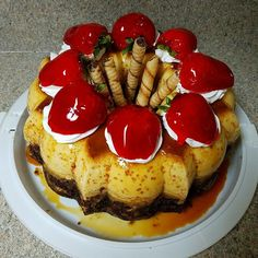 Party Desserts, Dessert Recipes, Choco Flan, Flan Cake, Gelatin Recipes, Flan Recipe, Jelly Cake, Birthday Cakes For Men, Sweet Soul
