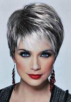 Resultado de imagen de short hair styles for women over 50 gray hair