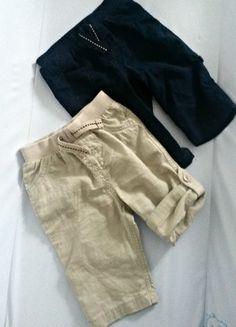 Kupuj mé předměty na #vinted http://www.vinted.cz/deti/miminka-chlapecek/10755407-modre-a-bezeve-bavlnene-pantalony-sortky-na-miminko