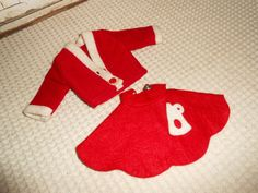 Vintage+Barbie+Clone+Clothes+Red+Felt+by+TotallyVintage
