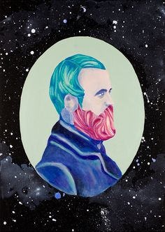 The Bearded Prince www.facebook.com/domenicotalarico.art #art #artist #artwork #workofart #paint #painter #painting #couple #acrylic #canvas #classy #illustration #illustrate #illustrator #graphic #graphicart #fashion #fashionart #fashionillustration #creepy #artnouveau #jugendstil #belle #belleepoque #artdeco #1900 #glamour #diamond #blingbling #formidable #dress #welldressed #space #galaxy #violet #teal #mint #contemporary #hipster #hipsterart #steampunk #hat #lady #collage #wings