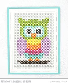 Die-namics: cross-Stitch Rectangle, Single Stitch Line Rectangle Frames Stephanie Klauck #mftstamps