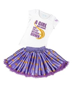 Look at this Disney Rapunzel 'Let Her Hair Down' Tee & Tutu - Girls on #zulily today!