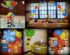 Balloon Columns, decorations, centerpieces and Arch. Dr.Suess