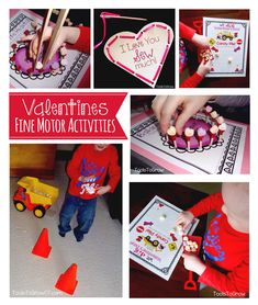 Valentine's Day Activities and Games that encourage development of Fine Motor and Bilateral Coordination Skills.