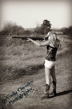 This picture with a bow instead of gun and it would be perfect