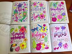 Bullet Journal Notes, Bullet Journal Ideas Pages, Bullet Journal Inspiration, Notebook Art, Notebook Covers, Notebook Ideas, Pretty Letters, Cute Muslim Couples, School Notebooks
