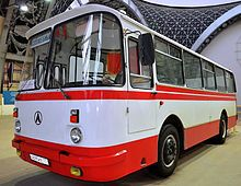 LAZ-695 bus of 1955 introduction: this was an all new design (albeit one based on the Magirus Deutz Saturn), and a very common sight on Soviet streets. It went into production in 1956, and wasn't discontinued until 2006.