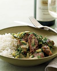 Veal Stew with Spring Greens Recipe on Food & Wine