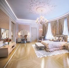 Uploaded by Find images and videos about bedroom and baeluxury on We Heart It - the app to get lost in what you love. Cute Room Decor, Teen Room Decor, Bedroom Decor, Huge Bedrooms, Luxurious Bedrooms, Dream Rooms, Dream Bedroom, Luxury Homes Interior, Home Interior Design