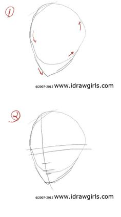 How to draw female face | art lesson online