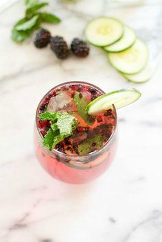 Blackberry Cucumber Skinny Mojito.