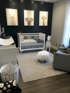 Baby Nursery :: Pottery Barn Kids & West Elm inspiriert The Effective Pictures We Offer You About baby room decor flowers A … Baby Boy Rooms, Baby Boy Nurseries, Baby Cribs, Baby Boys, Room Baby, Baby Room Themes, Baby Boy Nursey, Girl Toddler, Baby And Toddler Shared Room
