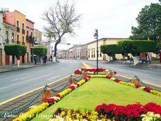 Av. Madero en Morelia, Michoacan. Mexico
