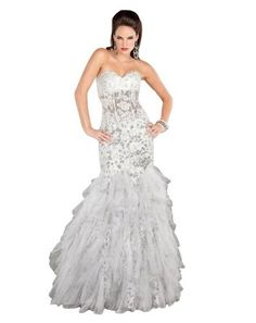 2b7575da2a Jovani 1531 White Evening Gown Size 4 New Nwt Pageant Prom Dress 2013