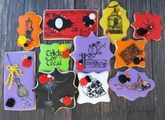 Stamped Halloween Cookies - Fun Family Crafts