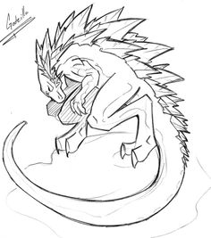 Godzilla Monster Coloring Page