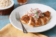 Parmesan-Crusted Summer Fresh Bruschetta Chicken #recipe http://www ...