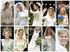 hrhroyalty:  Royal Brides in Chronological Order-Noor 2004, Mabel 2004, Mary 2004, Letizia 2004, Davina 2004, Camilla 2005, Anita 2005, Aimée 2005, Tessy 2006